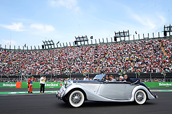 Formel 1: GP von Mexiko 2016 - Rennen in Mexiko-Stadt / 301016<br /> <br /> ***Bernie Ecclestone (GBR) driven by Adrian Fernandez (MEX) on the drivers parade.<br /> 30.10.2016. Formula 1 World Championship, Rd 19, Mexican Grand Prix, Mexico City, Mexico, Race Day.<br />  Copyright: Price / XPB Images / action press ***