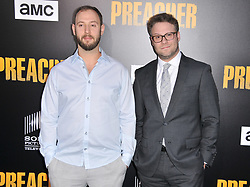 "(L-R) Evan Goldberg and Seth Rogen together at AMC's ""Preacher"" Season 2 Premiere Screening held at the Theater at the Ace Hotel in Los Angeles, CA on Tuesday, June 20, 2017.  (Photo By Sthanlee B. Mirador) *** Please Use Credit from Credit Field ***"