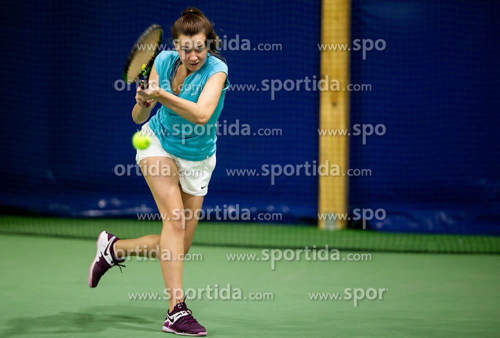 Anali Kocevar in action during Slovenian National Tennis Championship 2019, on December 21, 2019 in Medvode, Slovenia. Photo by Vid Ponikvar/ Sportida