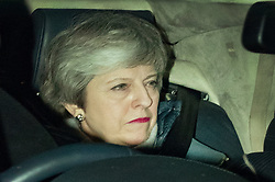 © Licensed to London News Pictures. 12/03/2019. London, UK. Prime Minister Theresa May arrives at Parliament for the meaningful vote on the Brexit withdrawal agreement in The House of Commons. Photo credit: Peter Macdiarmid/LNP