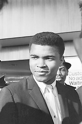 May 27, 1963 - United Kingdom - Cassius Clay, in London for fight against Henry Cooper, London, 27th May 1963.  (Credit Image: © Randle/Mirrorpix/NC via ZUMA Press)