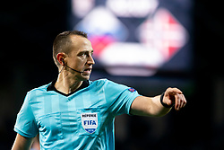 Referee Ruddy Buquet (FRA) during football match between National Teams of Slovenia and Norway in Final Tournament of UEFA Nations League 2019, on November 16, 2018 in SRC Stozice, Ljubljana, Slovenia. Photo by Urban Urbanc / Sportida