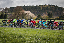 Peloton at Deigné with 236 km to go, the 102th edition of Liège-Bastogne-Liège race running 253 km from Liège to Liège, Belgium, 24 April 2016.<br /> Photo by Pim Nijland / PelotonPhotos.com<br /> <br /> All photos usage must carry mandatory copyright credit (© Peloton Photos | Pim Nijland)