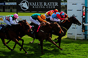 Papa Delta ridden by George Downing and trained by Tony Carroll in the Visit Valuerater.Co.Uk For Best Free Tips Handicap (Value Rater Racing Club Summer Sprint Series) (Class 6) race. Catheadans Fury ridden by George Wood and trained by Martin Bosley in the Visit Valuerater.Co.Uk For Best Free Tips Handicap (Value Rater Racing Club Summer Sprint Series) (Class 6) race. Tawaafoq ridden by Finley Marsh and trained by Adrian Wintle in the Visit Valuerater.Co.Uk For Best Free Tips Handicap (Value Rater Racing Club Summer Sprint Series) (Class 6) race. Harry Beau ridden by Harry Bentley and trained by David Evans in the Visit Valuerater.Co.Uk For Best Free Tips Handicap (Value Rater Racing Club Summer Sprint Series) (Class 6) race. - Ryan Hiscott/JMP - 21/08/2019 - PR - Bath Racecourse - Bath, England - Race Meeting at Bath Racecourse