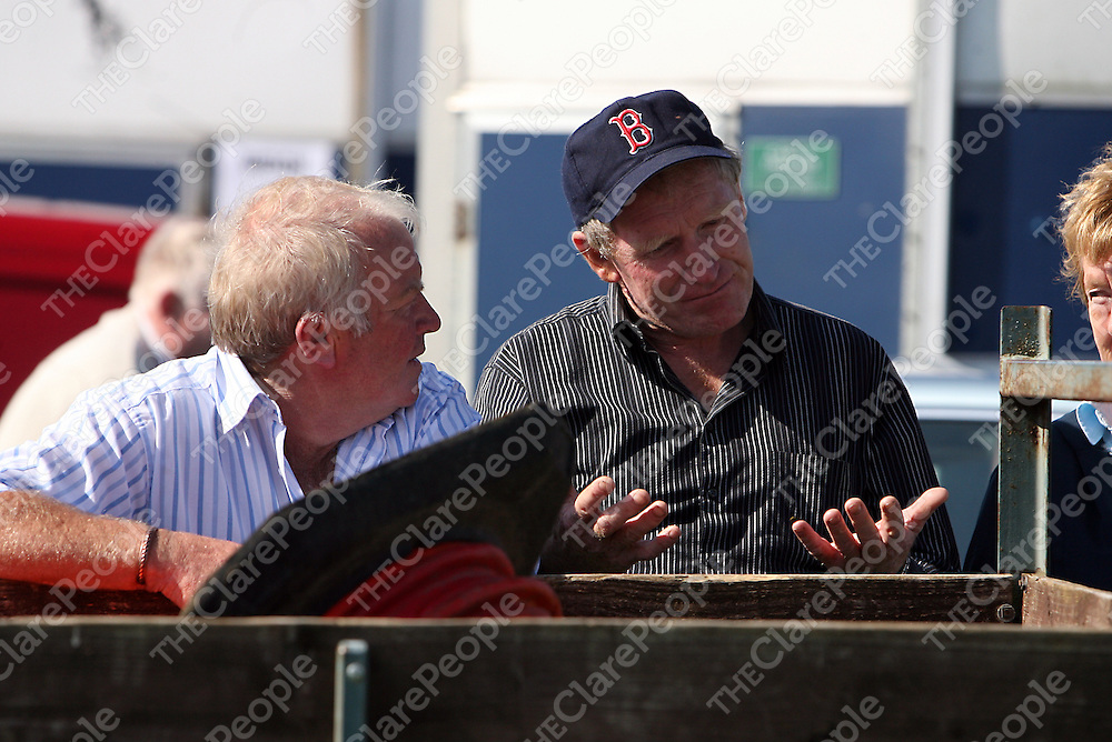 John Healy and Desmond Donnelly having a chat at the annual Lisdoonvarna races at the weekend.<br /> Photograph by Yvonne Vaughan