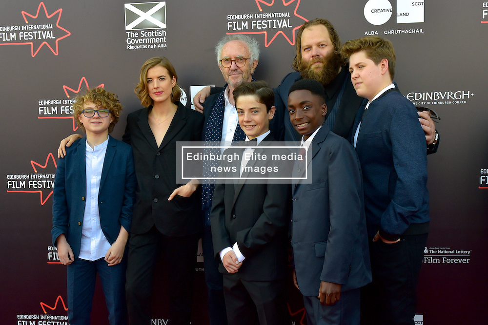 Left to Right Louis Suc (Actor), Agyness Deyn (Actor), Jonathan Pryce (Actor), Lorenzo Allchurch (Actor),Olafur Darri Olaffssohn (Actor), Malachi Hallett (Actor), William Ahern (Actor), on the red carpet at the 2016 Edinburgh International Film Festival, WORLD PREMIERE of The White King at Cineworld, Edinburgh18th June 2016, (c) Brian Anderson | Edinburgh Elite media