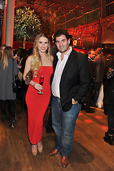 ZOE SALMON and ZAFAR RUSHDIE at One Night Changes Everything - a fundraising evening for the 2013 Comic Relief Campaign held at The Royal Opera House, London on 28th February 2013.