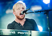 Eric Holljes of Delta Rae performs during day 5 of the 2013 Austin City Limits festival on Fri., Oct. 12, 2013 at Zilker Park.<br /> Ashley Landis for American-Statesman