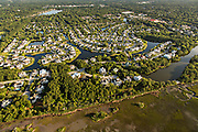 Aerial view of housing development in Mount Pleasant, SC.