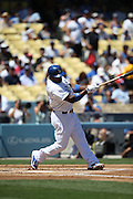 LOS ANGELES, CA - AUGUST 28:  Yasiel Puig #66 of the Los Angeles Dodgers bats during the game against the Chicago Cubs on Wednesday, August 28, 2013 at Dodger Stadium in Los Angeles, California. The Dodgers won the game in a 4-0 shutout. (Photo by Paul Spinelli/MLB Photos via Getty Images) *** Local Caption *** Yasiel Puig
