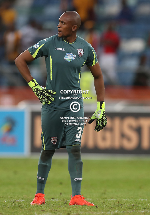 Thela Ngobeni Goalkeeper of Free State Stars during the Telkom Knockout quarterfinal  match between Kaizer Chiefs and Free State Stars at the Moses Mabhida Stadium , Durban, South Africa.6 November 2016 - (Photo by Steve Haag Kaizer Chiefs)