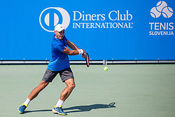 Aslan Karatsev (RUS) play against Sadio Doumbia (FRA) at ATP Challenger Zavarovalnica Sava Slovenia Open 2018, on August 5, 2018 in Sports centre, Portoroz/Portorose, Slovenia. Photo by Urban Urbanc / Sportida