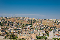 panorama of the city of Salt in Jordan