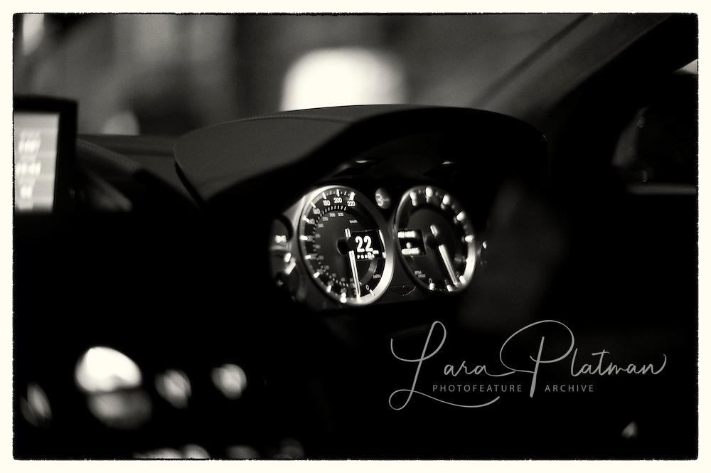 Aston Martin & Leica Roadtrip Details of car
