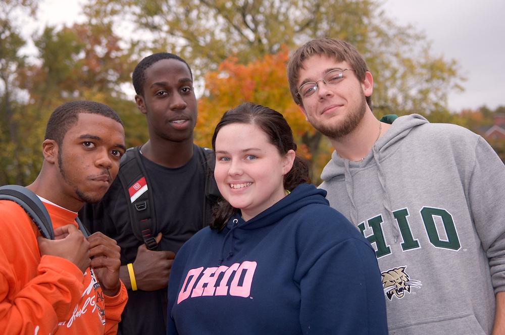 17896Campus fall/students.,Devin Palmer, Tunji ,Adedipe,Shandray Smith,Larry Tipton