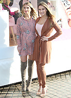Billie Faiers & Sam Faiers, Minnie's Beauty Bus Photocall, Observation Point, London UK, 07 February 2017, Photo by Brett D. Cove