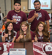 Houston ISD graduating seniors participate in the Academic Signing Day event at the Region 4 Education Center, May 21, 2015.