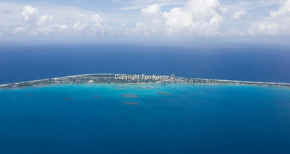 Tuvalu island in the pacific ocean