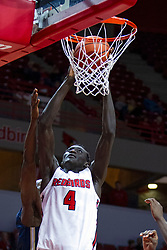 NORMAL, IL - November 29: Abdou Ndiaye during a college basketball game between the ISU Redbirds and the Prairie Stars of University of Illinois Springfield (UIS) on November 29 2019 at Redbird Arena in Normal, IL. (Photo by Alan Look)