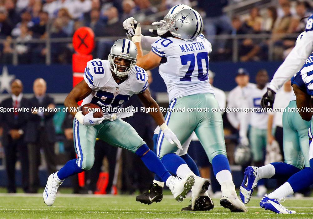 21 DEC 2014: Dallas Cowboys Running Back DeMarco Murray (29) [16636] during an NFL regular season game between the Indianapolis Colts and Dallas Cowboys at AT&T Stadium in Arlington, TX.