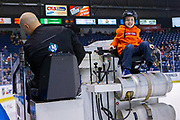 KELOWNA, CANADA - JANUARY 16: Orchard Park Zamboni Rider at the Kelowna Rockets game on January 16, 2019 at Prospera Place in Kelowna, British Columbia, Canada. (Photo By Cindy Rogers/Nyasa Photography, *** Local Caption ***