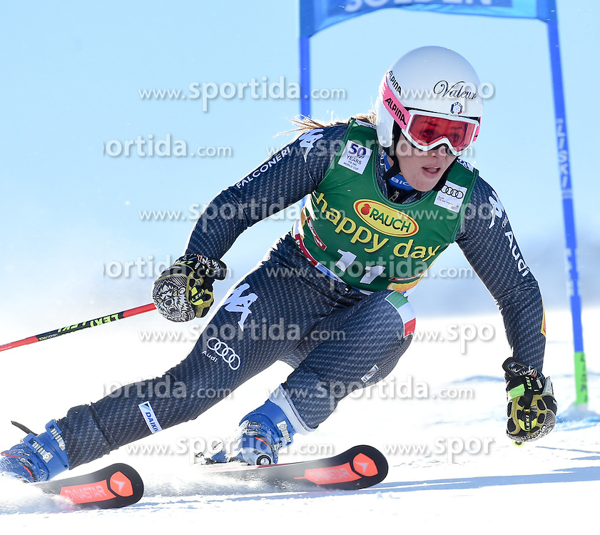 22.10.2016, Rettenbachferner, Soelden, AUT, FIS Weltcup Ski Alpin, Soelden, Riesenslalom, Damen, 1. Durchgang, im Bild Nadia Fanchini of Italy // in action during 1st run of ladies Giant Slalom of the FIS Ski Alpine Worldcup opening at the Rettenbachferner in Soelden, Austria on 2016/10/22. EXPA Pictures © 2016, PhotoCredit: EXPA/ Erich Spiess