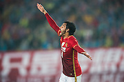 GUANGZHOU, CHINA - MARCH 16:  Ricardo Goulart of Guangzhou Evergrande reacts during the AFC Champions League match between Guangzhou Evergrande and Urawa Red Diamonds on March 16, 2016 in Guangzhou, China.  (Photo by Aitor Alcalde Colomer/Getty Images)