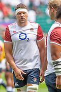 2Twickenham, Surrey, World Cup, Sunday, Sunday, 11/08/2019  2019 World Cup, Warm up match, Quilter International, England vs Wales, at the RFU Stadium  [© Peter SPURRIER/Intersport Image]<br /> <br /> 13:39:36 Charlie Ewels of England