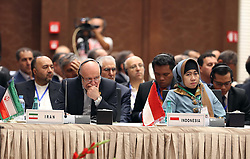 September 27, 2016 - Algiers, Algeria - Iranian Oil Minister Bijan Zanganeh (L) during the 15th International Energy Forum in Algiers on September 27, 2016, on the eve of an informal OPEC meeting the next day. Saudi Arabia's energy minister said he was optimistic that OPEC oil ministers would reach a 'common view' on the international market at their meeting in Algiers on September 28. (Credit Image: © Billal Bensalem/NurPhoto via ZUMA Press)