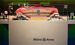 14.05.2013, Alianz Arena, Muenchen, GER, UEFA CL, FC Bayern Muenchen, Erlebniswelt, im Bild Modell der Alianz Arena // Model of Alianz Arena at the world of experience during the open media day of FC Bayern Munich in front of the UEFA Champions League Final 2013 held at the Alianz Arena, Munich, Germany on 2013/05/14
