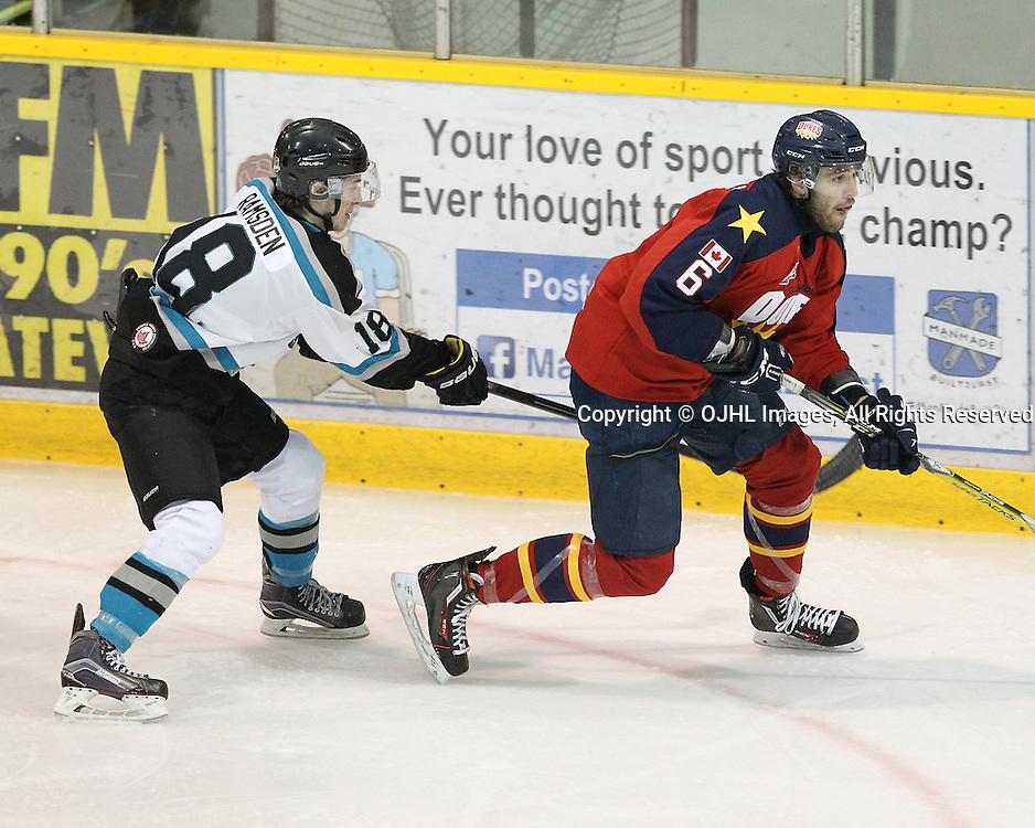 Ontario Junior Hockey League Game Between The Lindsay Muskies And