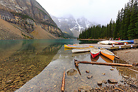 Image from a hike from Moraine Lake to Larch Valley in Banff National Park to see the Larch trees turn yellow before their needles fall off. Although a conifer, the larch is a deciduous tree and loses its needles in the fall and larch valley is an amazing place to see a valley full of the trees all changing color at the same time.<br /> <br /> &copy;2015, Sean Phillips<br /> http://www.RiverwoodPhotography.com