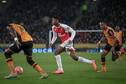 Jeff Reine-Adelaide (Arsenal) during the FA Cup fifth round match between Hull City and Arsenal at the KC Stadium, Kingston upon Hull, England on 8 March 2016. Photo by Mark P Doherty.