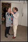 SUSAN HILLER; RICHARD WILSON, Matt's Gallery 35th birthday fundraising supper.  42-44 Copperfield Road, London E3 4RR. 12 June 2014.