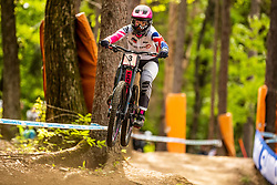 Tracey Hannah of Australia during Mercedes-Benz UCI Mountain Bike World Cup competition final day in Bike Park Pohorje, Maribor on 28th of April, 2019, Slovenia.  . Photo by Grega Valancic / Sportida