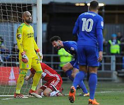 Sean Morrison of Cardiff City celebrates his goal- Mandatory by-line: Nizaam Jones/JMP - 17/02/2018 -  FOOTBALL - Cardiff City Stadium - Cardiff, Wales -  Cardiff City v Middlesbrough - Sky Bet Championship