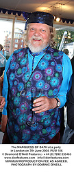 The MARQUESS OF BATH at a party in London on 7th June 2004.PUW 106