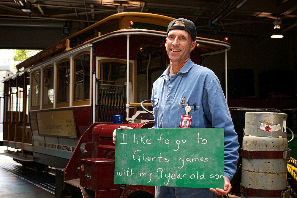 I like to go to Giants games with my 9 year old Son | Arne, Cable Car Division Electrical Transit Mechanic | April 24, 2012