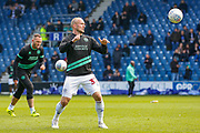 Queens Park Rangers defender Toni Leistner (37) warming up before the EFL Sky Bet Championship match between Queens Park Rangers and Swansea City at the Loftus Road Stadium, London, England on 13 April 2019.