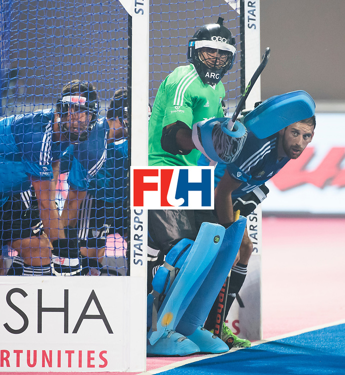 BHUBANESWAR -  Hockey World League finals ,  .Team Argentina.  Argentina v Spain (2-1). keeper Juan Vivaldi (Arg)  COPYRIGHT KOEN SUYK