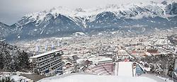 02.01.2015, Bergisel Schanze, Innsbruck, AUT, FIS Ski Sprung Weltcup, 63. Vierschanzentournee, Vorberichte, im Bild Übersciht//work on the ski jumping hill during preparation of 63rd Four Hills Tournament of FIS Ski Jumping World Cup at the Bergisel Hill in Innsbruck, Austria on 2015/01/02. EXPA Pictures © 2015, PhotoCredit EXPA/ Jakob Gruber