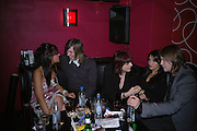 Laura Jackson, Cosey's son Nick, Cosey Fanni Tutti,( Christine Newby)  Natalie Loren and Richard Clouston. Tate Triennial 2006 after party. Storm. Leicester Sq. London. 28 February 2006.  ONE TIME USE ONLY - DO NOT ARCHIVE  © Copyright Photograph by Dafydd Jones 66 Stockwell Park Rd. London SW9 0DA Tel 020 7733 0108 www.dafjones.com