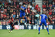 David Brooks (20) of AFC Bournemouth battles for possession with Nathaniel Mendez-Laing (19) of Cardiff City during the Premier League match between Bournemouth and Cardiff City at the Vitality Stadium, Bournemouth, England on 11 August 2018.