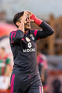 Portugal, FUNCHAL : Benfica's Argentine midfielder Salvio  celebrates after scoring against Maritimo during Portuguese League football match Maritimo vs S.L. Benfica at Barreiros Stadium in Funchal on January  18, 2015. PHOTO/ GREGORIO CUNHA