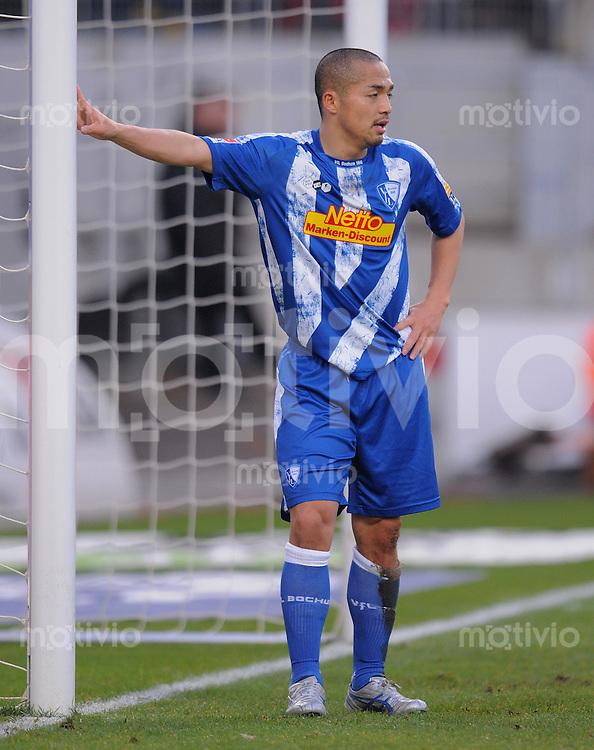 Fussball 1. Bundesliga :  Saison   2009/2010   15. Spieltag   05.12.2009 VfB Stuttgart - VfL Bochum  Shinji Ono (Bochum)