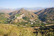 Axarquía landscape La Molina village near Comares, Malaga province, Spain