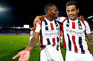 Onderwerp/Subject: Willem II - Jupiler League<br /> Reklame:  <br /> Club/Team/Country: <br /> Seizoen/Season: 2013/2014<br /> FOTO/PHOTO: Bruno ANDRADE ( Bruno Fernandes ANDRADE DE BRITO ) (R) of Willem II and Terell ONDAAN (L) of Willem II celebrating victory after the match ( 2 - 0 ). (Photo by PICS UNITED)<br /> <br /> Trefwoorden/Keywords: <br /> #02 $94 &plusmn;1372506528100<br /> Photo- &amp; Copyrights &copy; PICS UNITED <br /> P.O. Box 7164 - 5605 BE  EINDHOVEN (THE NETHERLANDS) <br /> Phone +31 (0)40 296 28 00 <br /> Fax +31 (0) 40 248 47 43 <br /> http://www.pics-united.com <br /> e-mail : sales@pics-united.com (If you would like to raise any issues regarding any aspects of products / service of PICS UNITED) or <br /> e-mail : sales@pics-united.com   <br /> <br /> ATTENTIE: <br /> Publicatie ook bij aanbieding door derden is slechts toegestaan na verkregen toestemming van Pics United. <br /> VOLLEDIGE NAAMSVERMELDING IS VERPLICHT! (&copy; PICS UNITED/Naam Fotograaf, zie veld 4 van de bestandsinfo 'credits') <br /> ATTENTION:  <br /> &copy; Pics United. Reproduction/publication of this photo by any parties is only permitted after authorisation is sought and obtained from  PICS UNITED- THE NETHERLANDS