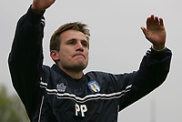 Photo: Lee Earle.<br /> Yeovil Town v Colchester United. Coca Cola League 1. 06/05/2006. Colchester manager Phil Parkinson celebrates.