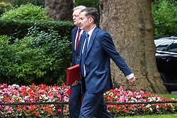 London, June 27th 2017. Secretary of State for Work and Pensions David Gauke (right) and Secretary of State for Exiting the European Union David Davis attend the weekly UK cabinet meeting at 10 Downing Street in London.