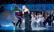 Pixie Lott, Kristina Riahnoff and Robin Windsor in  Puttin&rsquo; On The Ritz at New Wimbledon Theatre, London, Great Britain <br /> <br /> 27 May 2015 <br />  <br />  Pixie Lott and Strictly Come Dancing stars Robin Windsor, Kristina Rhianoff and Trent Whiddon.<br />  <br /> <br /> Photograph by Elliott Franks <br /> Image licensed to Elliott Franks Photography Services